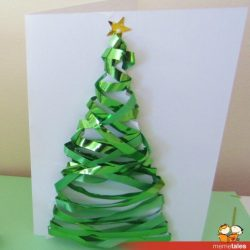 Ribbon Christmas tree card