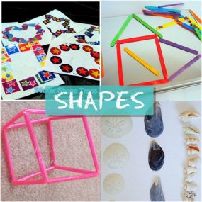 Activities for learning shapes