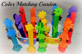 Color Matching Garden for toddlers