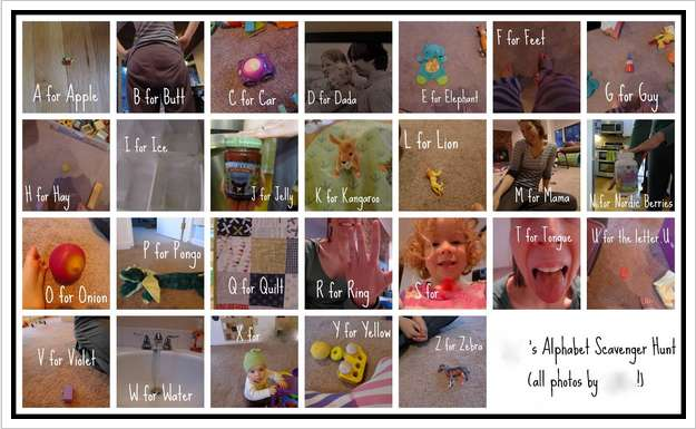 Scavenger Hunt with Alphabet Photos