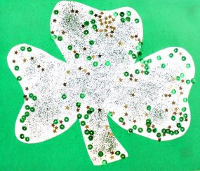 Sparkly Shamrock Craft from Fantastic Fun and Learning