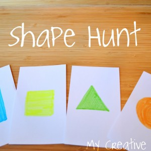 Learn shapes on a scavenger hunt