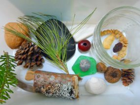 Sink or Float Sensory Sink with Natural and Found Objects
