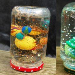 snow globe jar