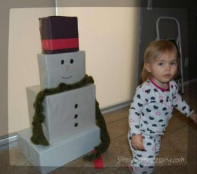 Build Your Own Indoor Snowman from Simple.Home.Blessings.