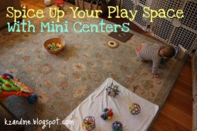 Play Space: Mini Centers from Kz and Me