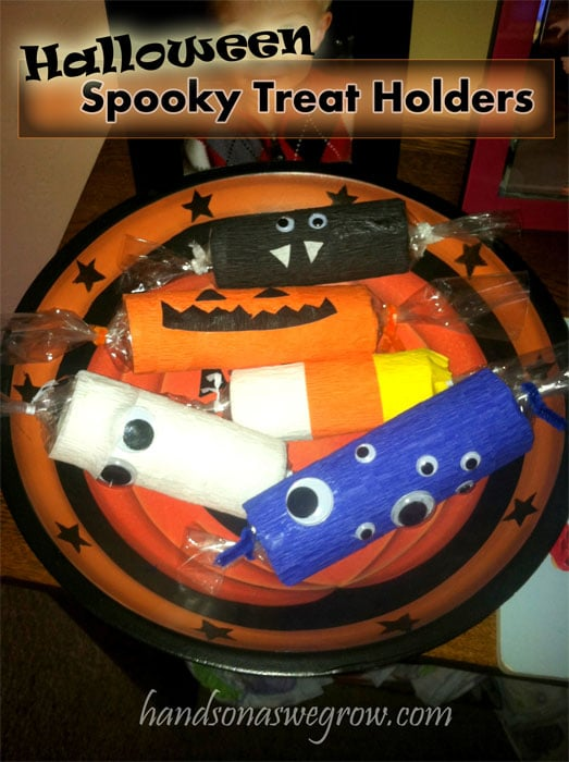 Spooky Treat Holders/Candy Bags Halloween Craft for Kids