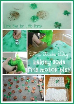 St Patricks Day Science Fine Motor Play from little bins for little hands
