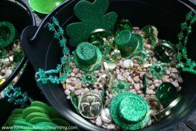 St. Patrick's Day Sensory Bin & Learning Activities