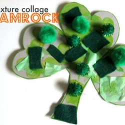 a texture shamrock collage for toddlers from No Time for Flash Cards