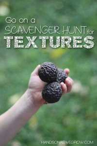 Explore Textures on an Outdoor Scavenger Hunt