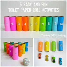 5 Easy and Fun Toilet Paper Roll Activities from Thrive 360 Living