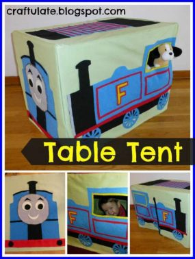 Steam Train Table Tent