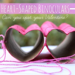 Heart Shaped Binoculars Valentine Craft