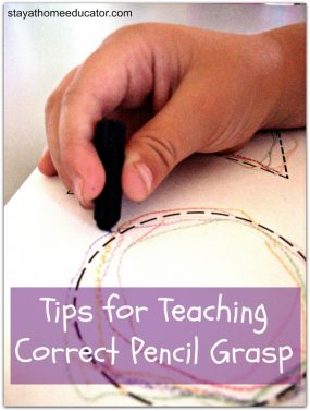 Tips For Teaching Correct Pencil Grasp from Stay At Home Educator