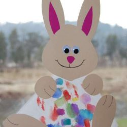 Coffee Filter Bunny from Kids' Craft Ideas