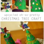 Upcycled Oh-So-Pretty Christmas Tree Craft
