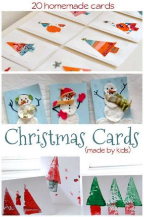 Christmas Tree Cards Ks1.20 Homemade Christmas Cards Made By The Kids Hands On As