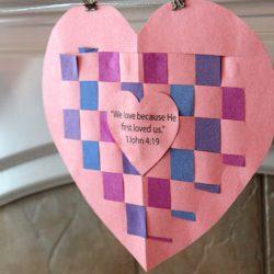 Woven Heart Valentine Craft