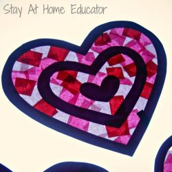 Tissue Paper Heart Suncatcher