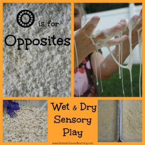 Wet and Dry Sensory Play: Learning About Opposites