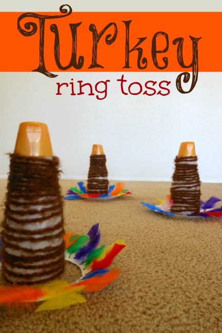 Turkey ring toss thanksgiving activity for kids