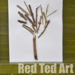 Sticks winter tree craft