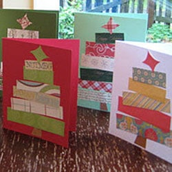 Christmas Tree Paper Scraps Cards from Rindy Mae