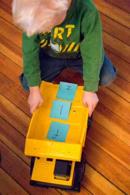 A load full of lowercase letters to match to uppercase counterparts