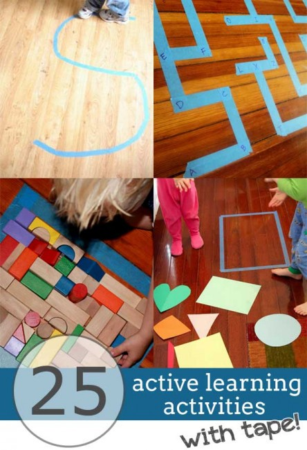 25 Active Ways to Learn Indoors with Tape