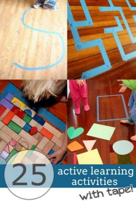 25 Active Ways To Learn Indoors With Tape Hands On As We