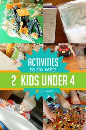 Activities for 2 (or More) Kids Under 4