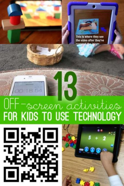 13 activities for kids using technology, but in an off-screen way!