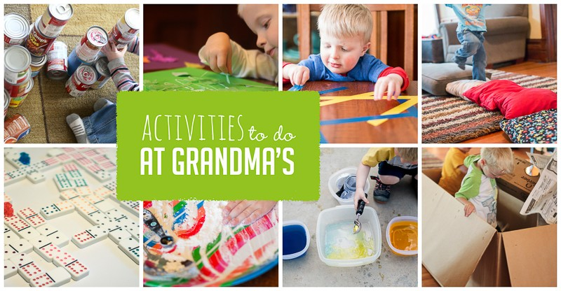Simple Activities to Do at Grandma\'s | Hands On As We Grow