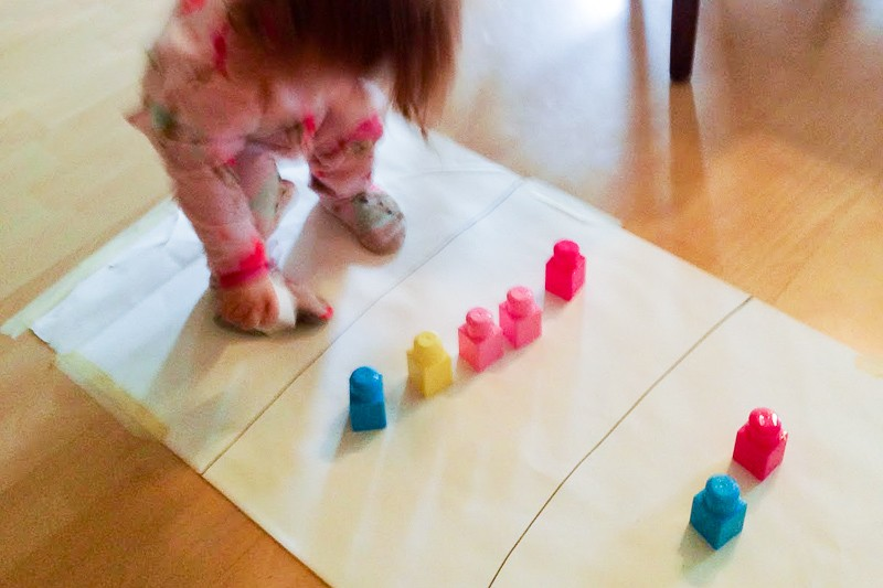 Adapt a hard maze activity to work with your toddler