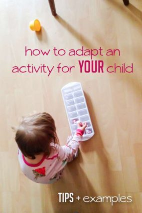How to Adapt an Activity for Your Child
