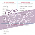Make Today an Adventure Day with FREE Printable