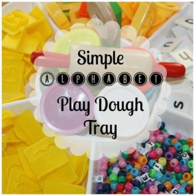 Simple Alphabet Play Dough Activity Tray from Little bins for little hands