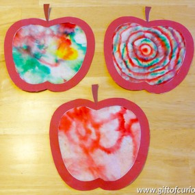 Coffee Filter Apple Craft from Gift of Curiosity