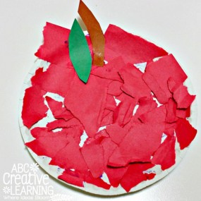 Torn Paper Apple Craft from ABC Creative Learning