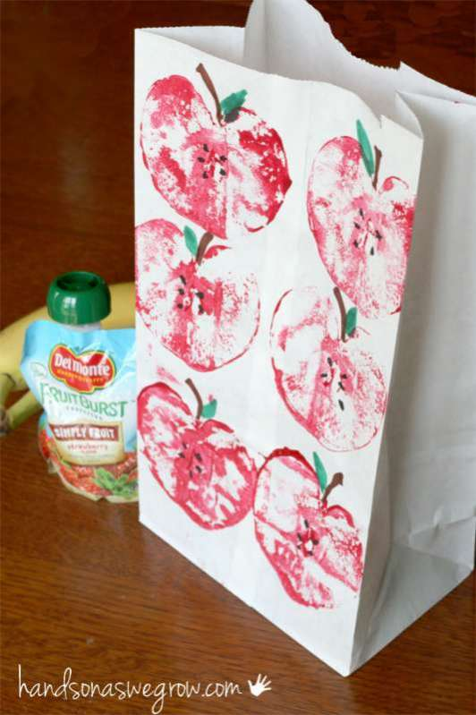 Apple Printing Lunch Sacks on Parents.com | Hands On As We Grow