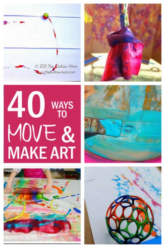 Creative Arts And Crafts Ideas For Kids Part - 25: ... Make Fun Art Projects For Kids By Making Art Bigger And With Movement.  Easier For