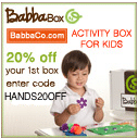 50% off 1st BabbaBox with HANDS50OFF
