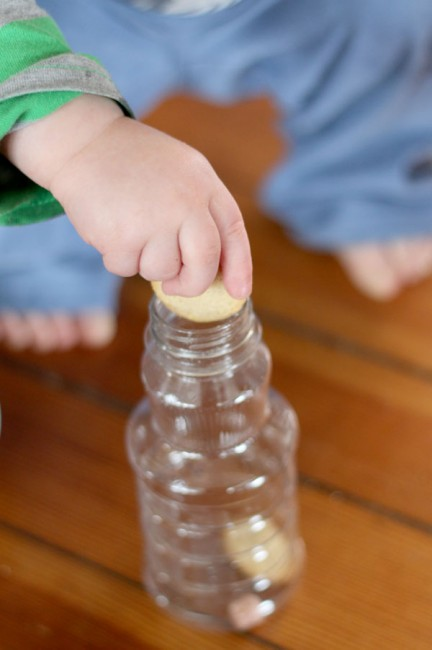 A sensory bottle that's all edible so completely safe for young ones to be making it!