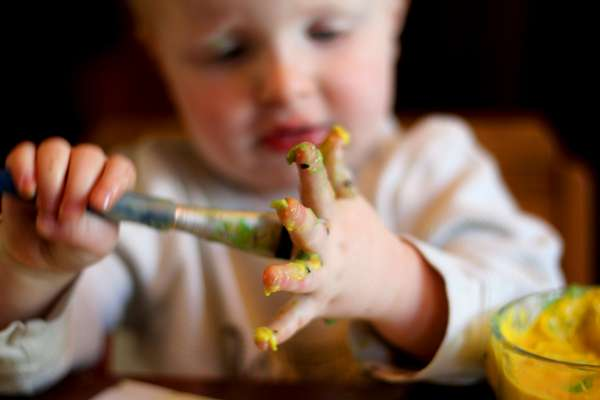 Baby safe paint! A edible paint for babies to explore