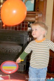 balloon badminton for kids