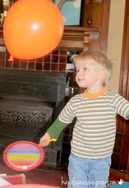 balloon badminton for kids