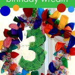 DIY Balloon Birthday Wreath with Number
