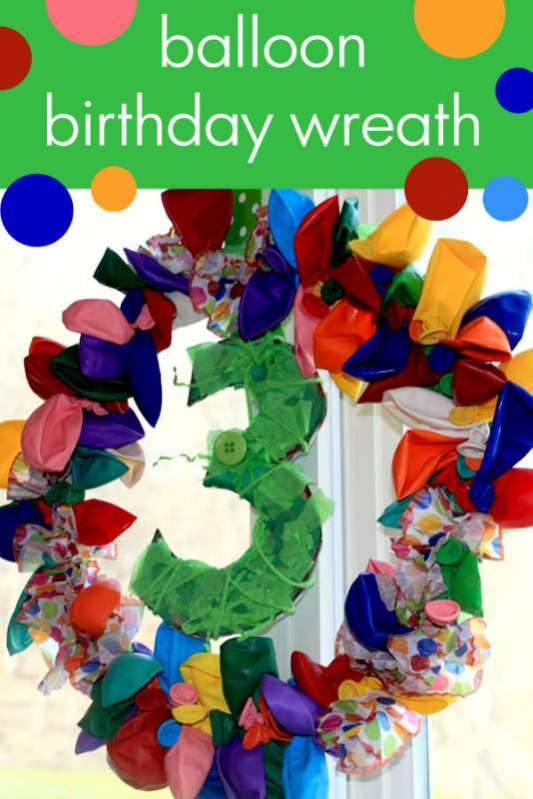 DIY Balloon Birthday Wreath with Number Hands On As We Grow