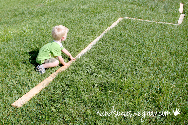 Make a very basic balance beam for toddlers